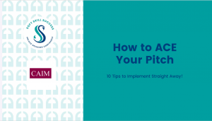 How to ACE your pitch