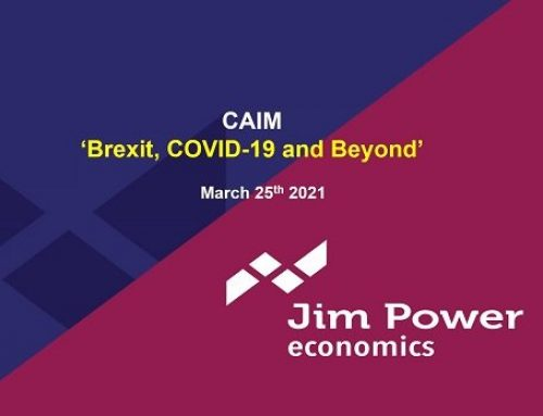 Jim Power – Effects of Brexit and Covid-19 and future prospects for the Irish economy